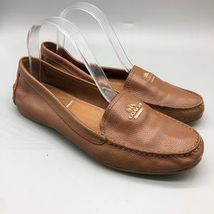 Coach Opal brown leather loafers / moccasins